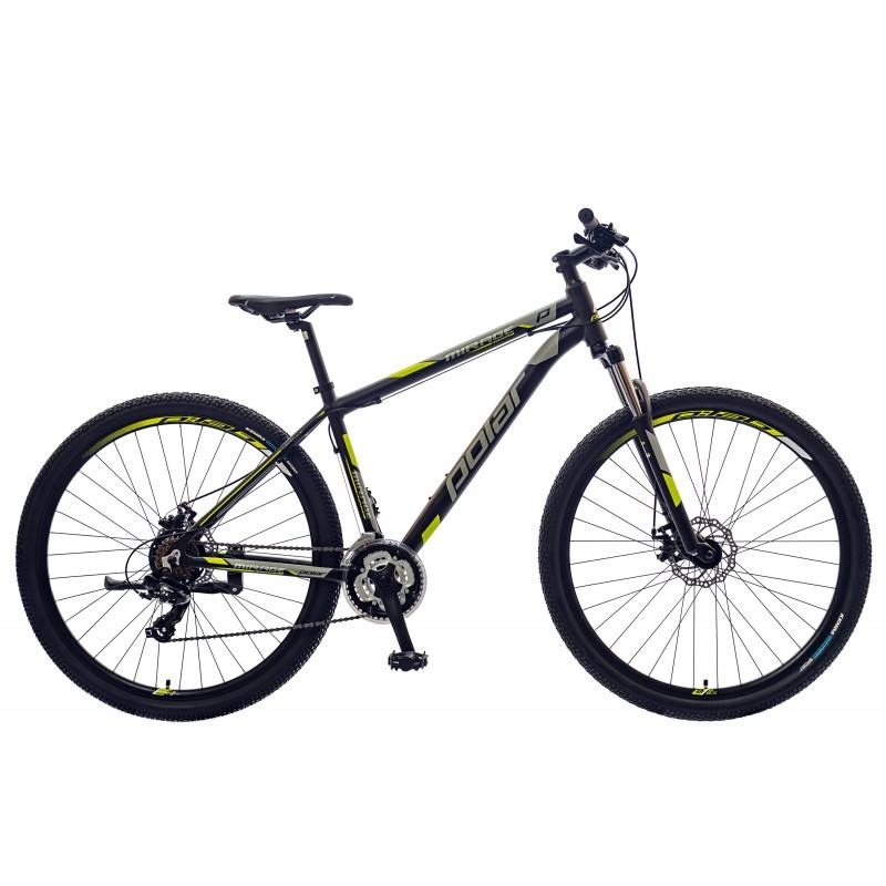 Велосипед POLAR MIRAGE SPORT (черный-серый-флуоресцентный желтый) размер ХХL