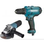 Набор инструментов DK0117 MAKITA дрель DF0300 + УШМ 9555HN