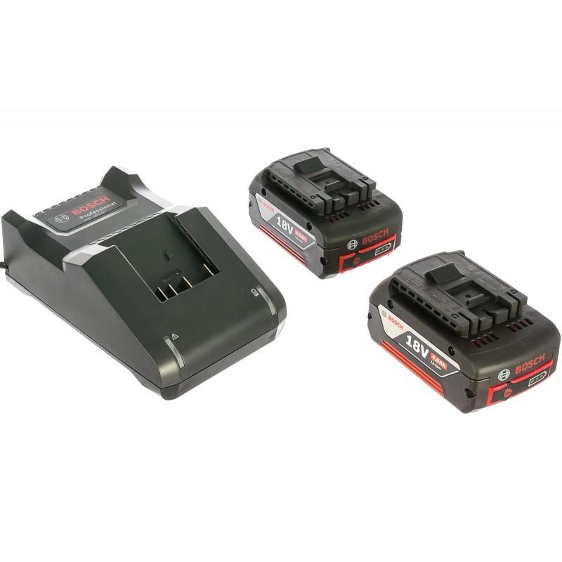 Аккумулятор BOSCH GBA 18V (4.0Aч) х 2 + GAL 18V-40 x2