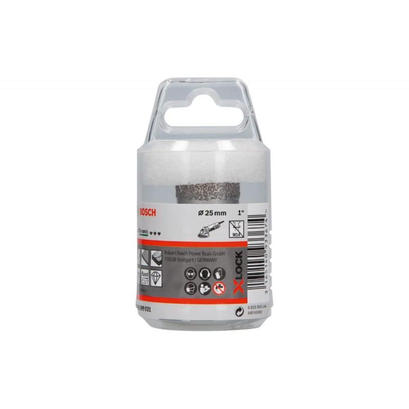 Алмазная коронка  по керамике Best for Ceramic Dry Speed X-LOCK BOSCH 25х35мм