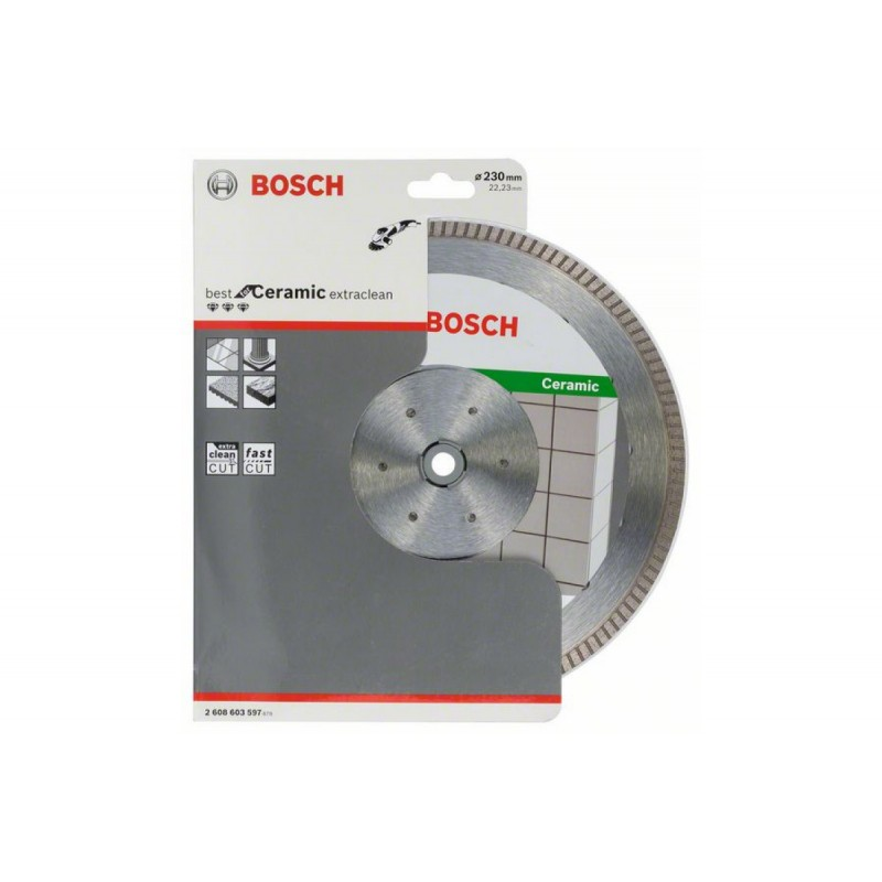 Диск алмазный Best for Ceramic Extraclean Turbo BOSCH 230х22.2 мм