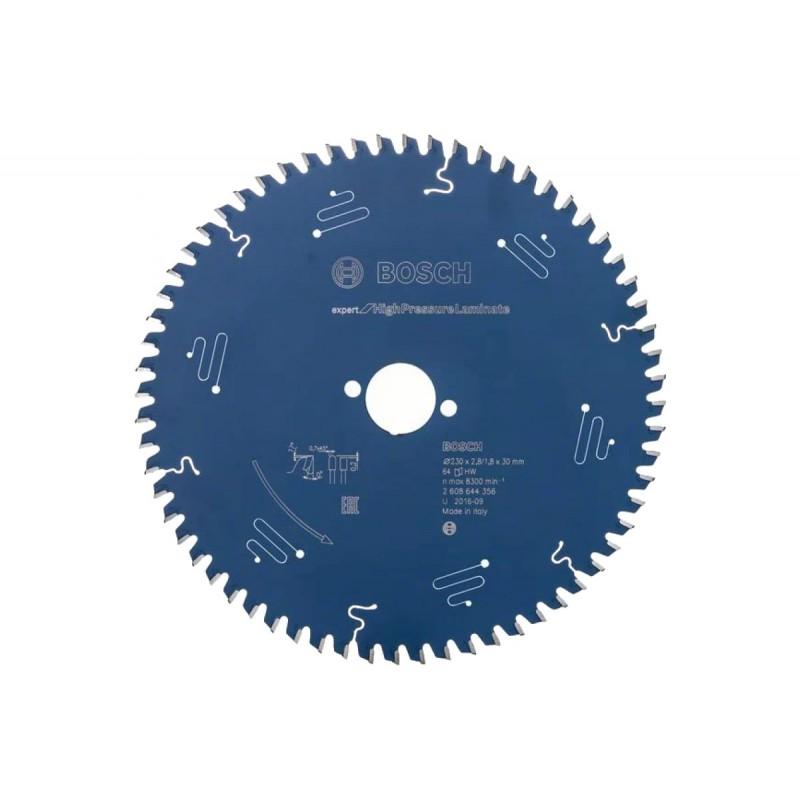 Диск пильный BOSCH Expert for High Pressure Laminate 230x30x2.8/1.8x64T