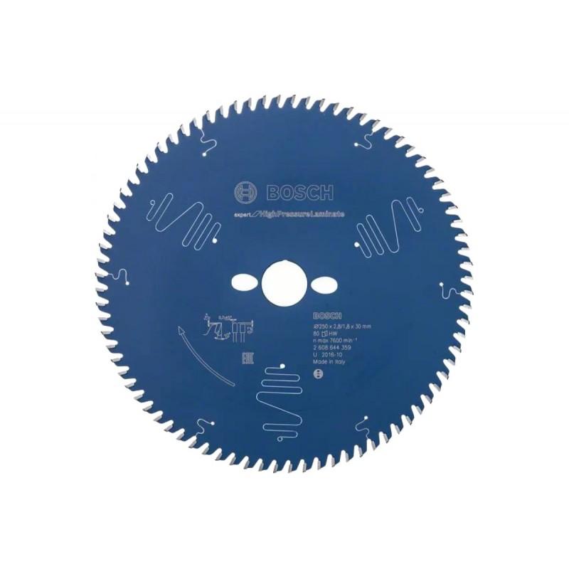 Диск пильный BOSCH Expert for High Pressure Laminate 250x30x2.8/1.8x80T