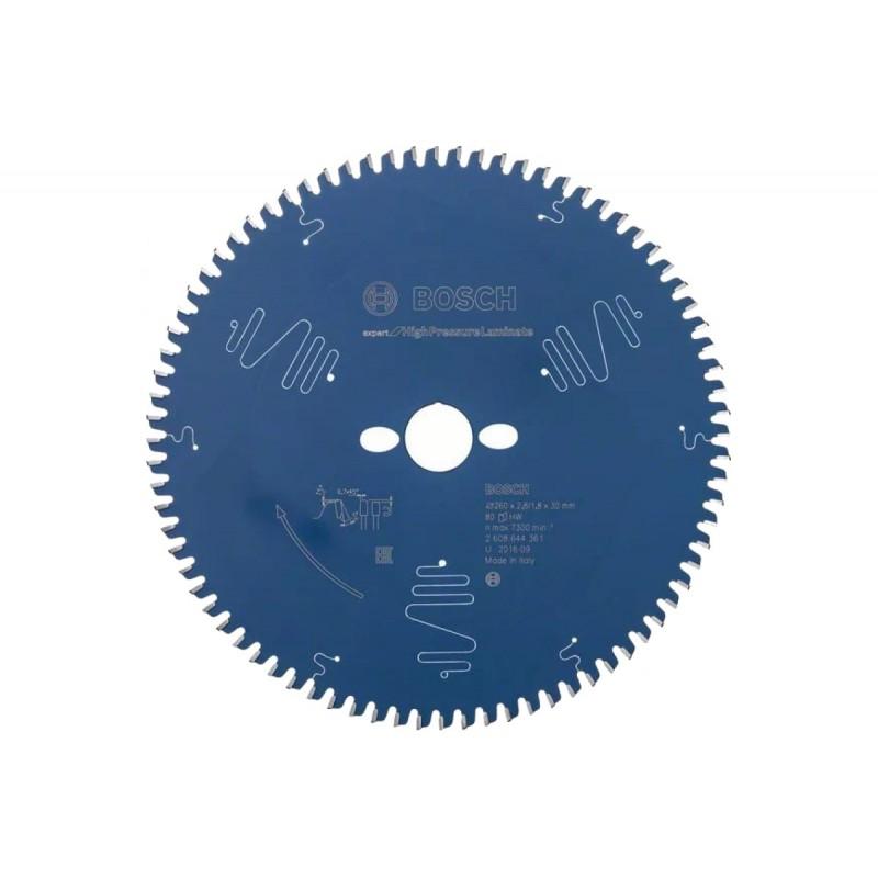 Диск пильный BOSCH Expert for High Pressure Laminate 260x30x2.8/1.8x80T