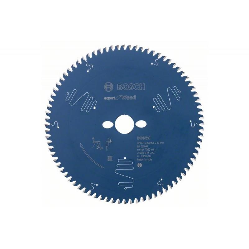 Диск пильный BOSCH Expert for Wood 254x30x2.6/1.8x80T