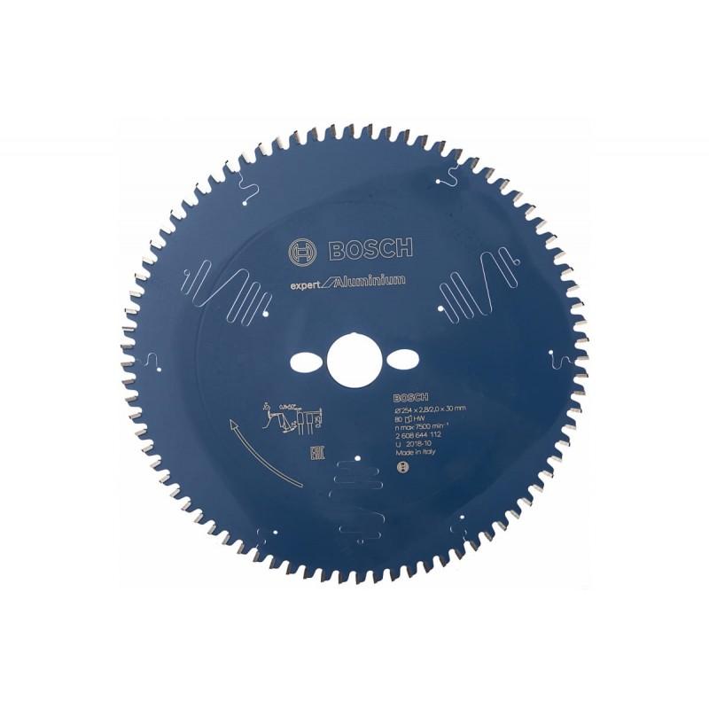 Диск пильный по алюминию для погружных и ручных циркулярных пил BOSCH Expert for Aluminium 254x30x2.8/2x80T