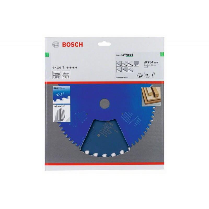Диск пильный по дереву BOSCH Expert for Wood 254x30x2.6/1.8x32T