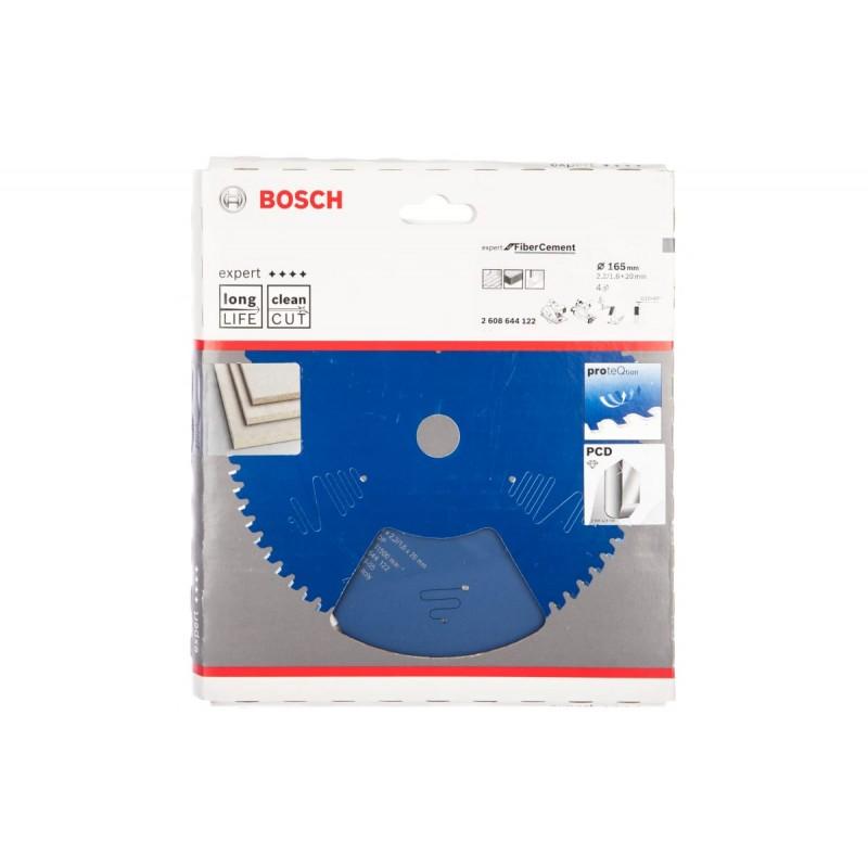 Диск пильный по фиброцементу и гипсокартону для погружных и ручных циркулярных пил BOSCH Expert for FiberCement 165x20x2.2/1.6x4T