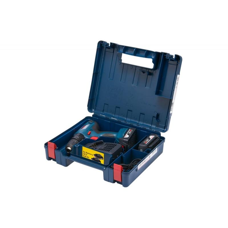Дрель-шуруповерт ударная аккумуляторная BOSCH GSB 180-LI (2 акку х 2.0 А/ч)