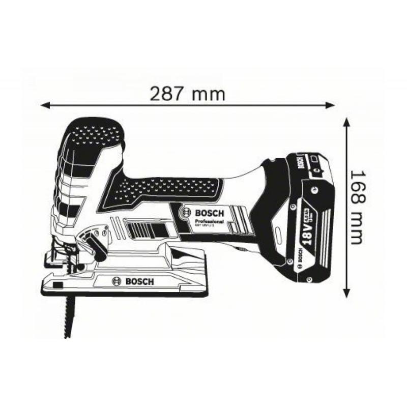 Лобзик аккумуляторная BOSCH GST 18 V-LI S Solo без АКБ и ЗУ