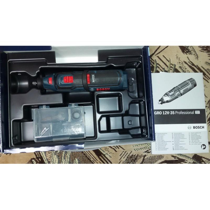 Гравер аккумуляторный BOSCH GRO 12V-35 Solo без АКБ и ЗУ