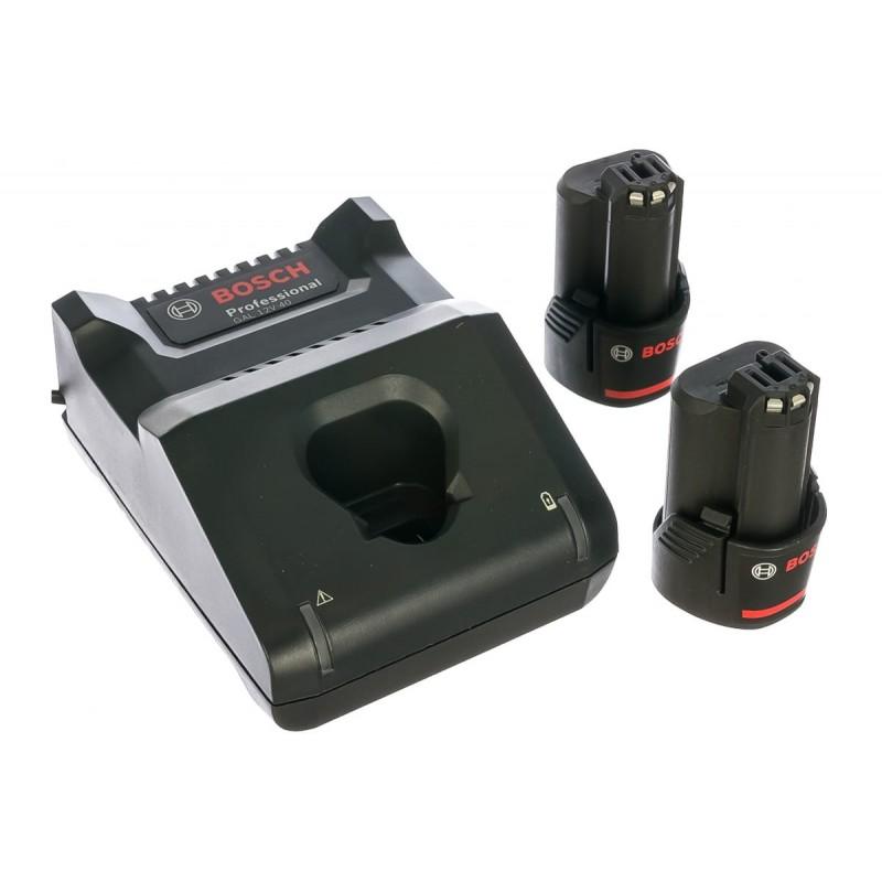Набор аккумуляторные батареи BOSCH GBA 12V 2.0Ah 2 шт и зарядное устройство GAL 12V-40