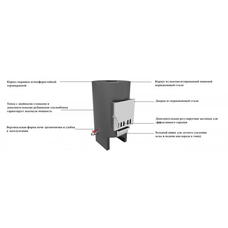 Внешняя печь PolarSpa 40кВт