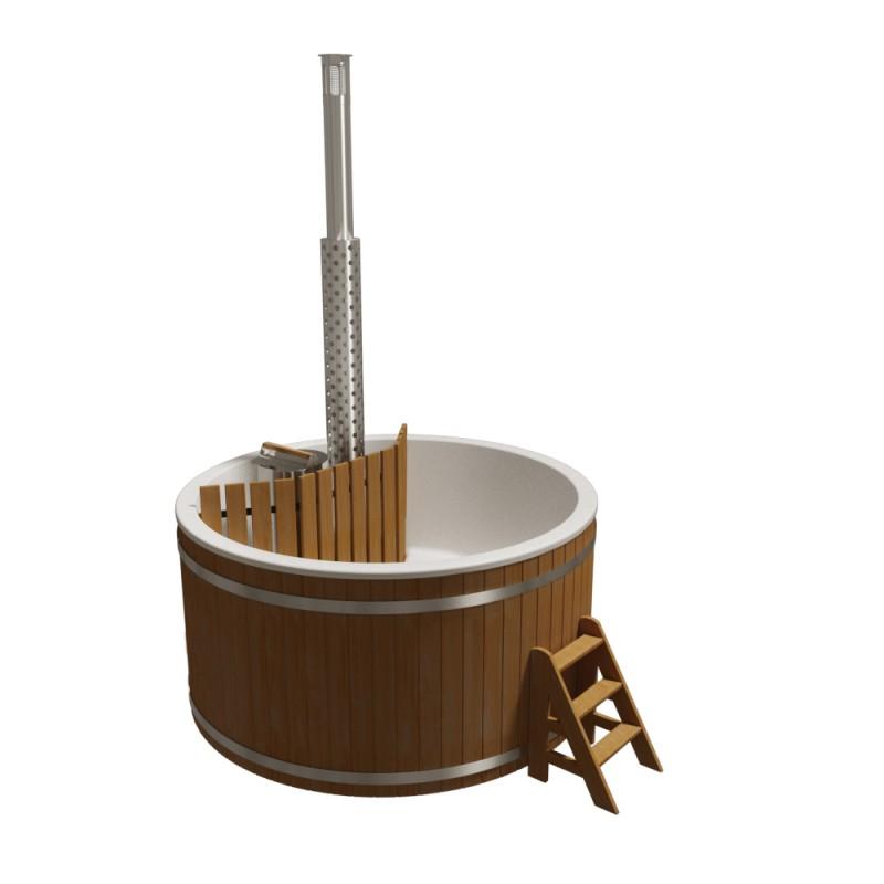 Купель композитная круглая с подогревом Премиум Термососна