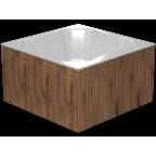 Купель композитная квадратная Quattro Cold термоясень