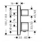 Душевая стойка со смесителем Hansgrohe Croma Select E/Ecostat, 27294000