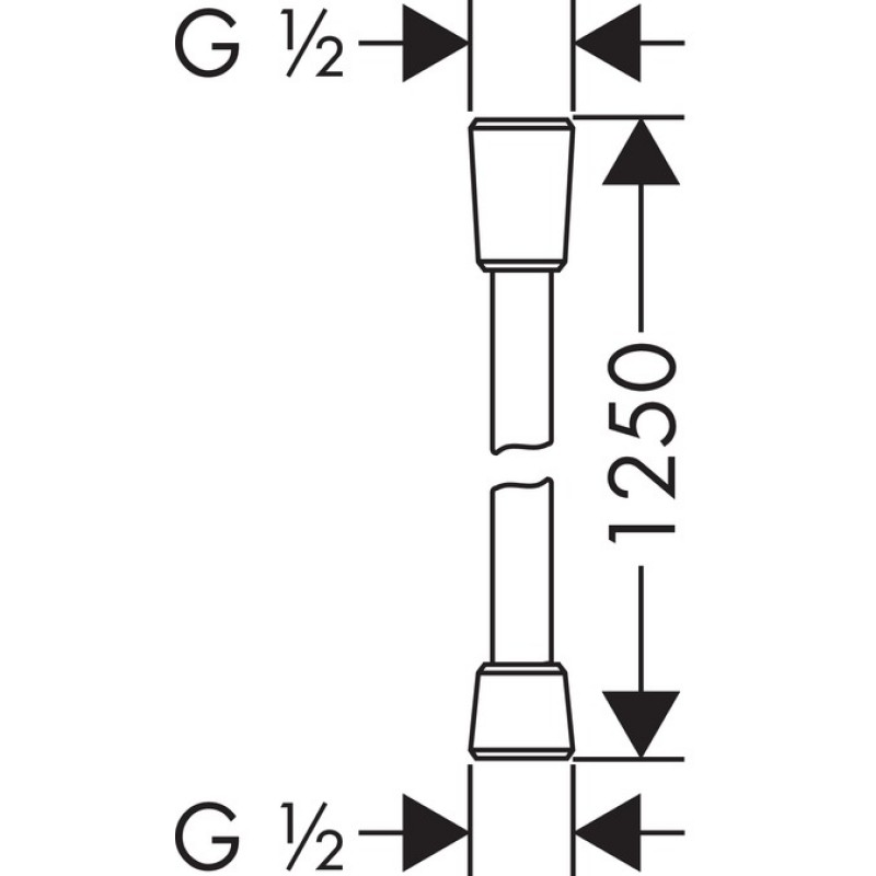 Душевой шланг Hansgrohe Isiflex B, 28272000