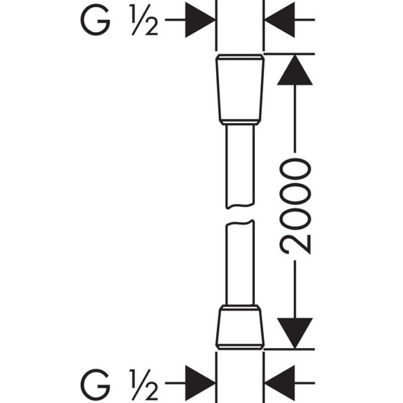 Душевой шланг Hansgrohe Isiflex B, 28274000