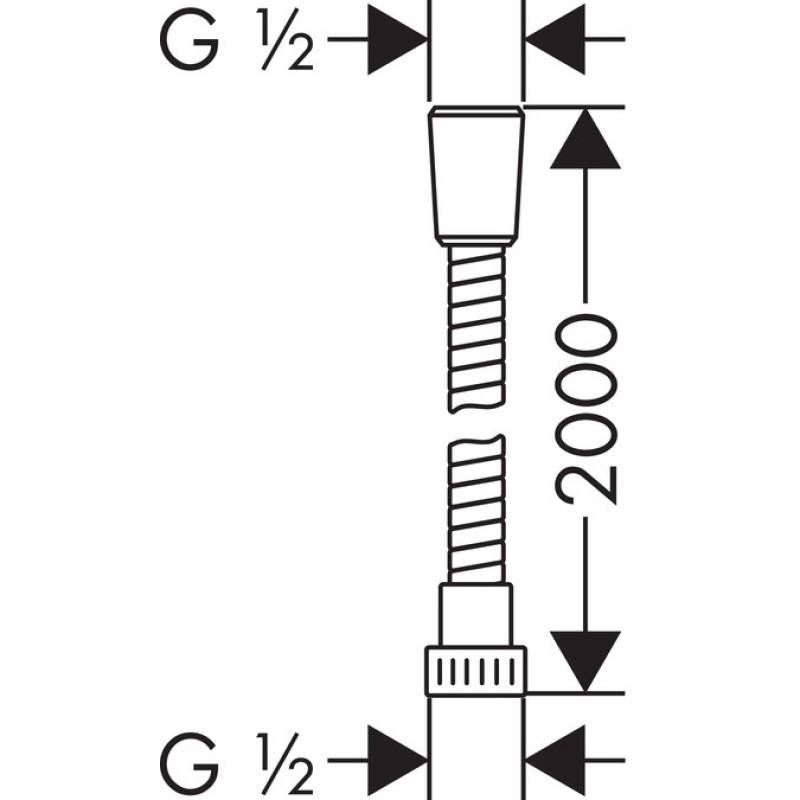 Душевой шланг Hansgrohe Metaflex C, 28264000