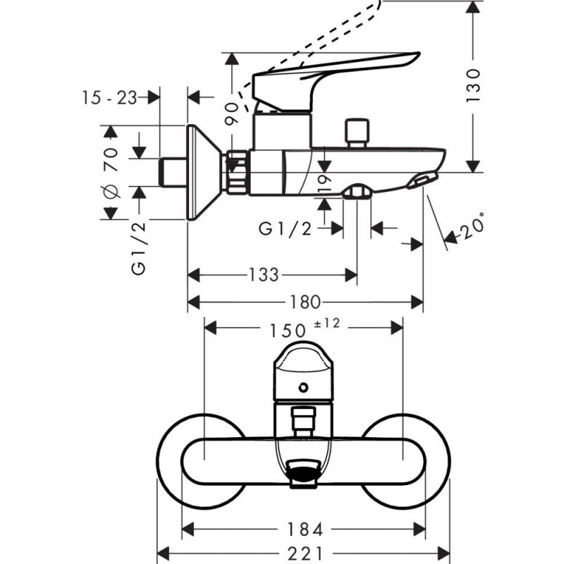 Комплект смесителей Hansgrohe Logis E, SetLogisE70A