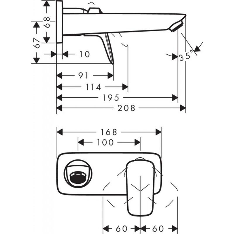 Встраиваемый смеситель для умывальника Hansgrohe Logis, 71220000