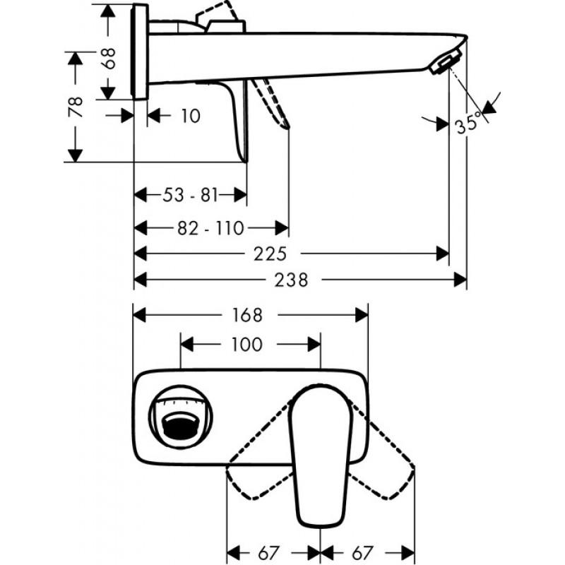 Излив для ванны и умывальника Hansgrohe Talis E, 71734000