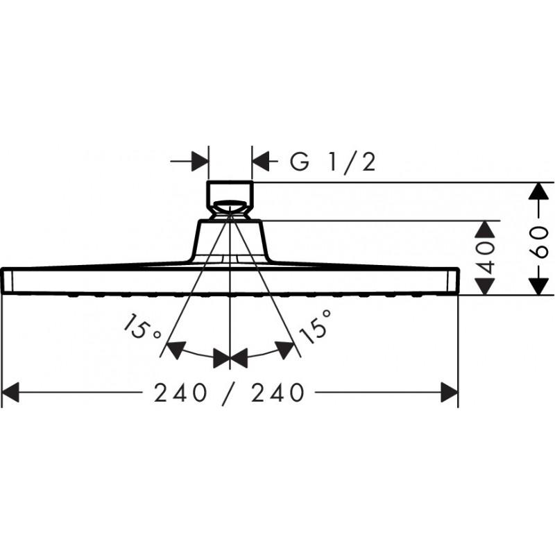 Душевая лейка для потолочного душа Hansgrohe Crometta E240 1jet, 26726000