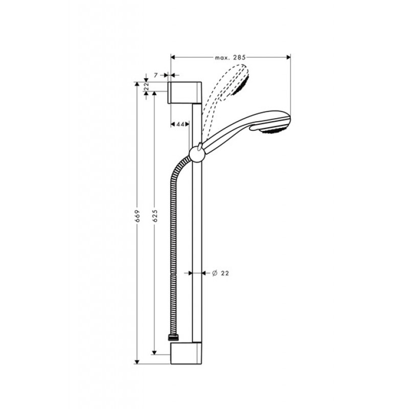 Душевая стойка Hansgrohe Crometta 85 Vario Unica, 27763000