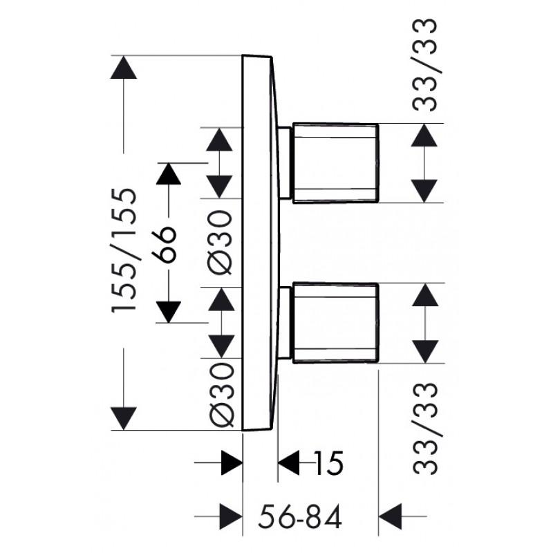 Запорный вентиль Hansgrohe PuraVida iControl, 15777000