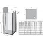 Душевой уголок Ravak SmartLine SMSD2+SMPS L, 0SL7BA00Z1 + 9SL40A00Z1