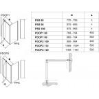 Душевой уголок Ravak Pivot PDOP2+PPS, 03GA0U00Z1 + 90GA0U00Z1