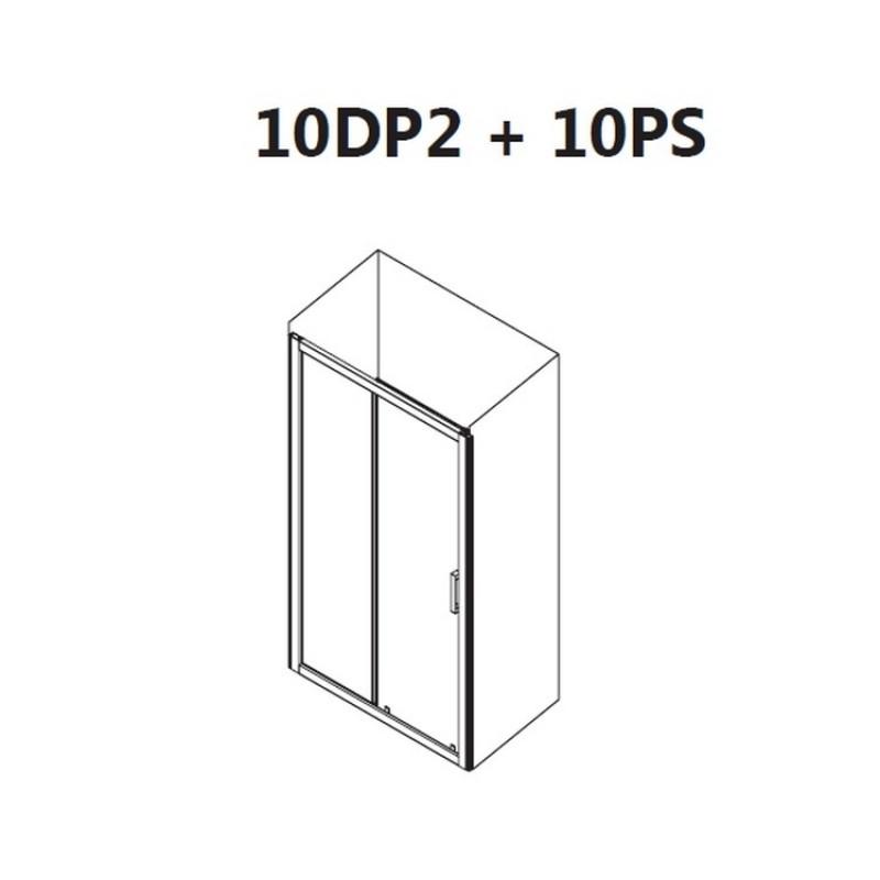 Душевой уголок Ravak 10° 10DP2+10PS, 0ZVD0U00Z1 + 9UV40U00Z1