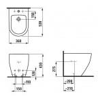 Биде подвесное Laufen Pro New, 8329520003021