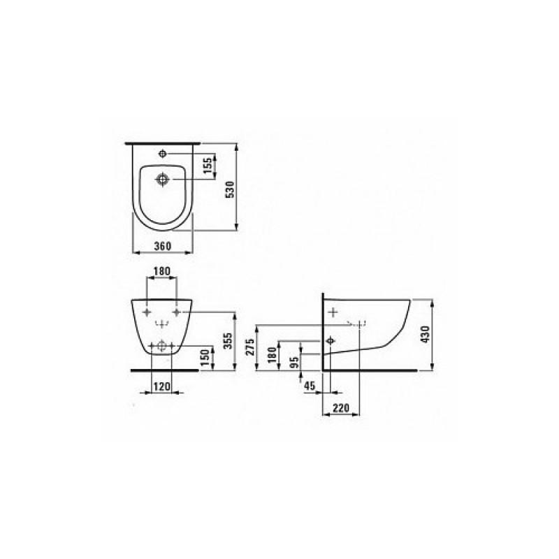 Биде подвесное Laufen Pro, 8309524003021