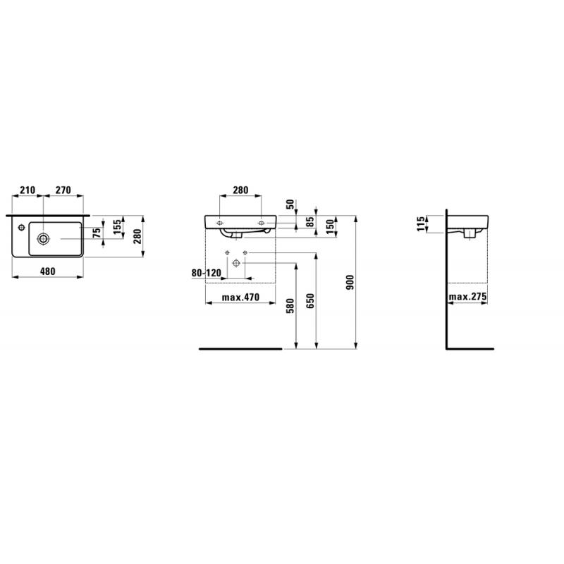 Мини-раковина Laufen Pro S, 8159550001041