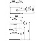 Мини-раковина Laufen Pro S, 8159540001041
