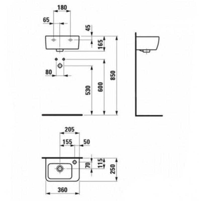 Мини-раковина Laufen Pro, 8169550001061