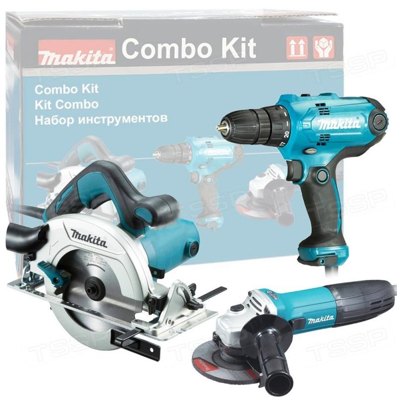 Набор инструментов DK0119 MAKITA дрель DF0300 + УШМ GA5030 + пила HS6601