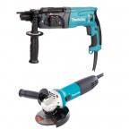 Набор инструментов DK0120 MAKITA перфоратор HR2470 + УШМ GA5030