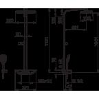 Душевая система Oras Esteta Wellfit, 7592U-15