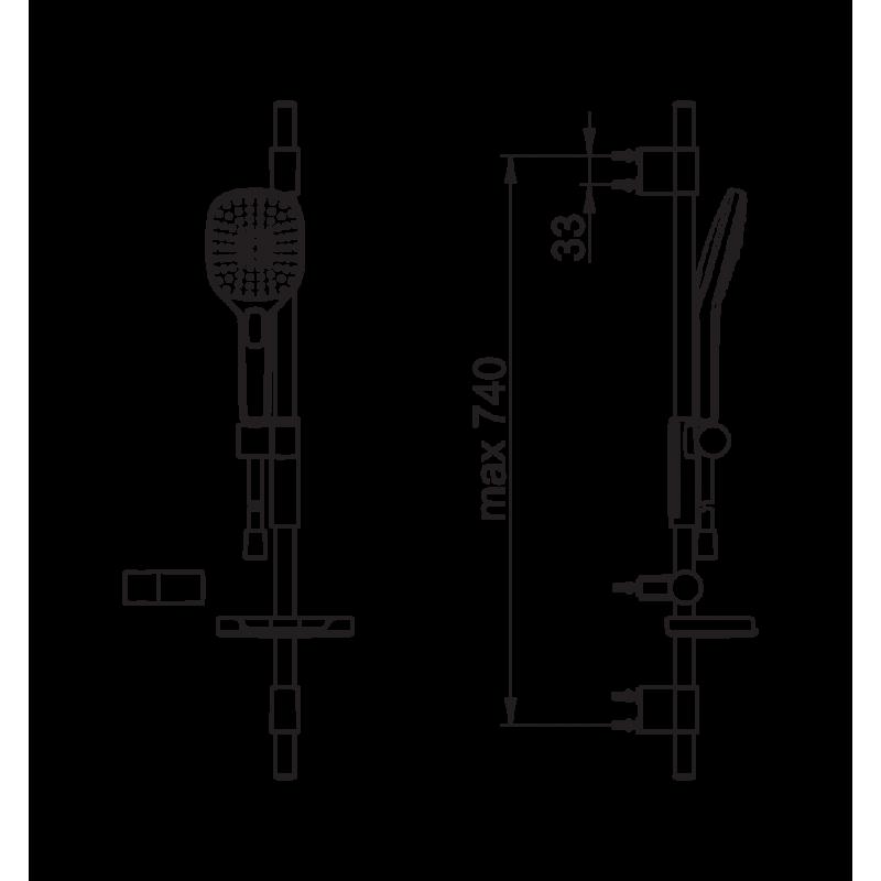 Душевой комплект Oras Hydractiva, 433