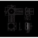 Корпус смесителя для ванны и душа Oras Bluebox, 2080