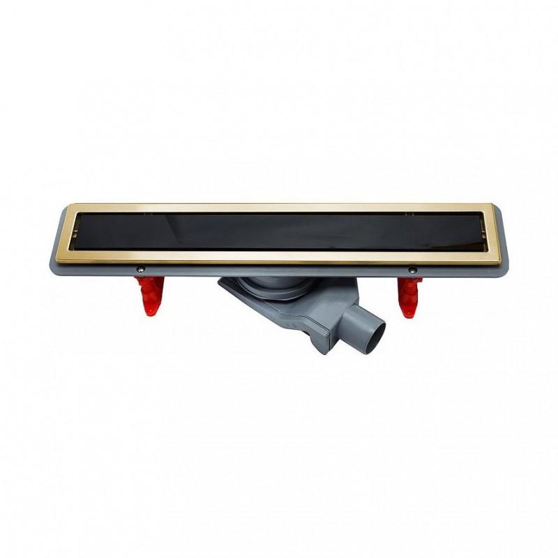 Душевой лоток Pestan Confluo Premium Black Glass Line 450 Gold, 13100095