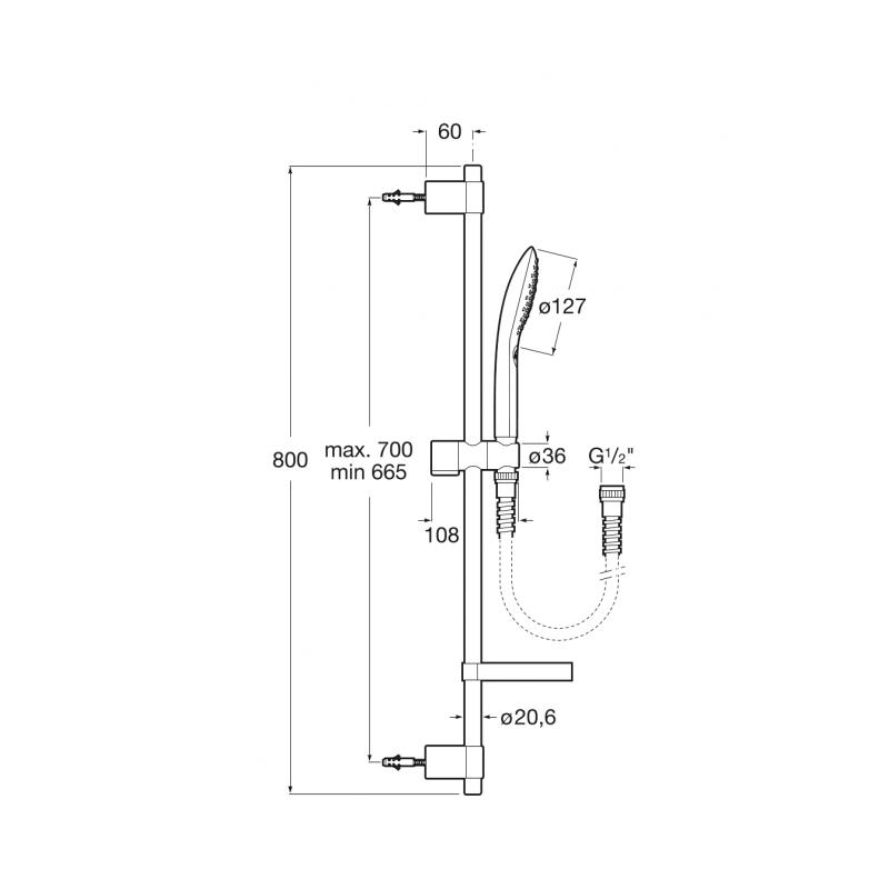 Душевой комплект Roca Plenum GO, 5B1P11C00