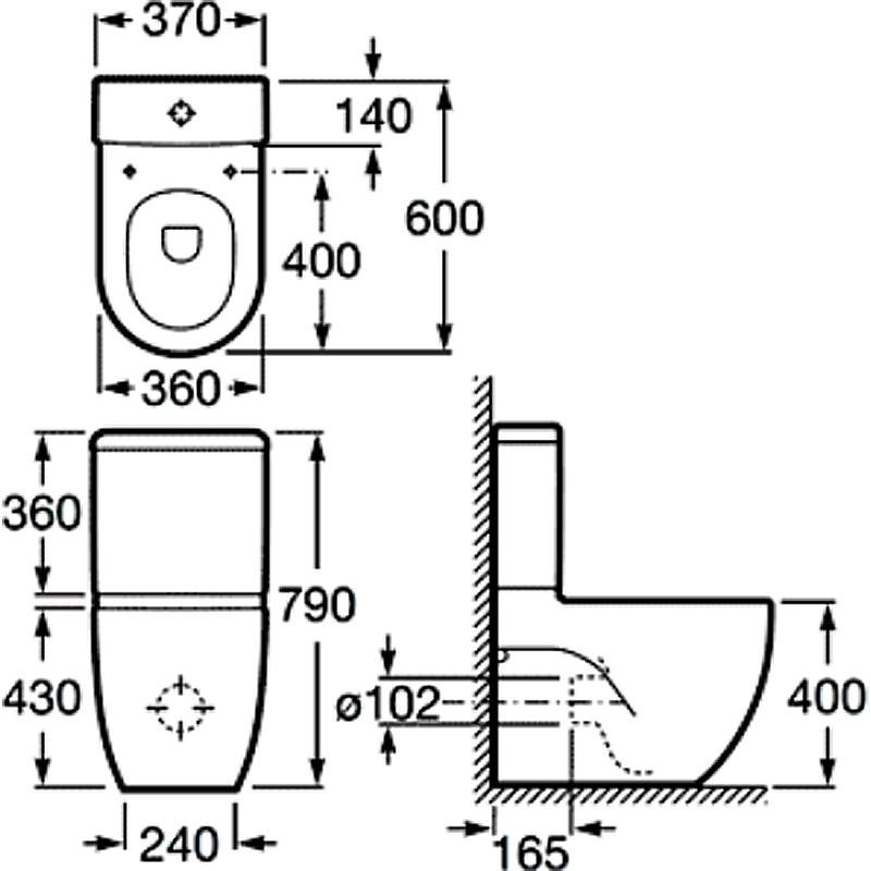 Бачок для унитаза Roca Meridian-N Compacto, 341242000