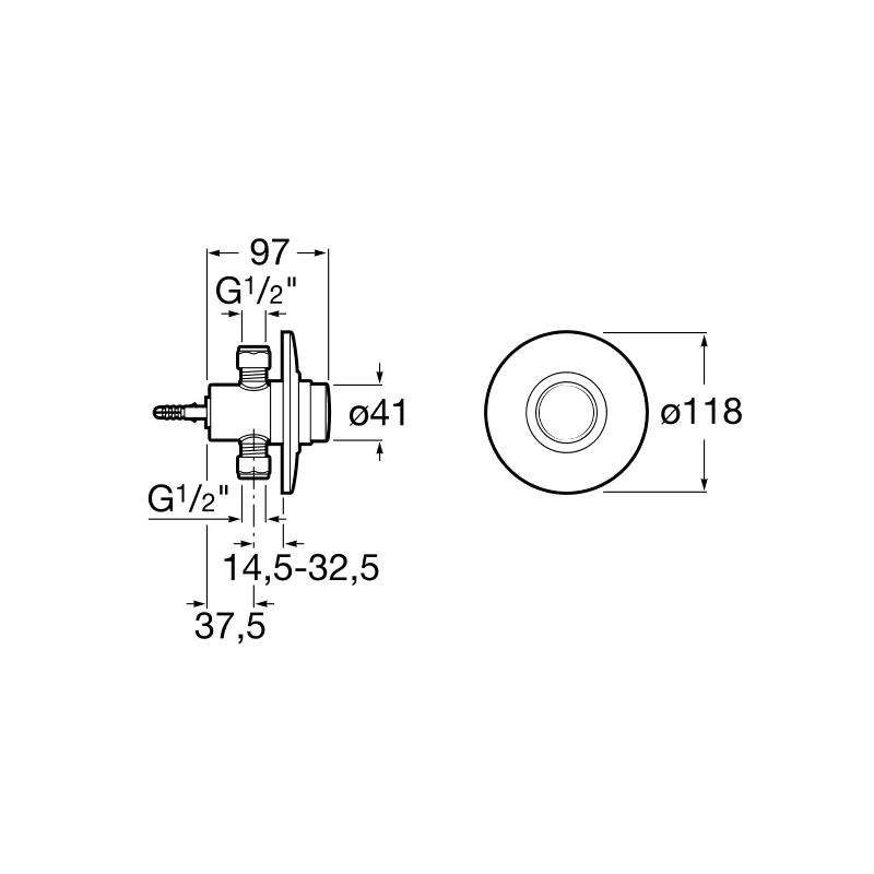 Кран для писсуара Roca Sprint-N, 5A9024C00