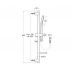 Душевой комплект Roca Plenum Square, 5B1A10C00