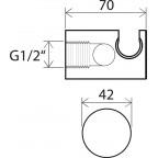 Вывод душевой настенный с держателем Ravak 706, X07P206