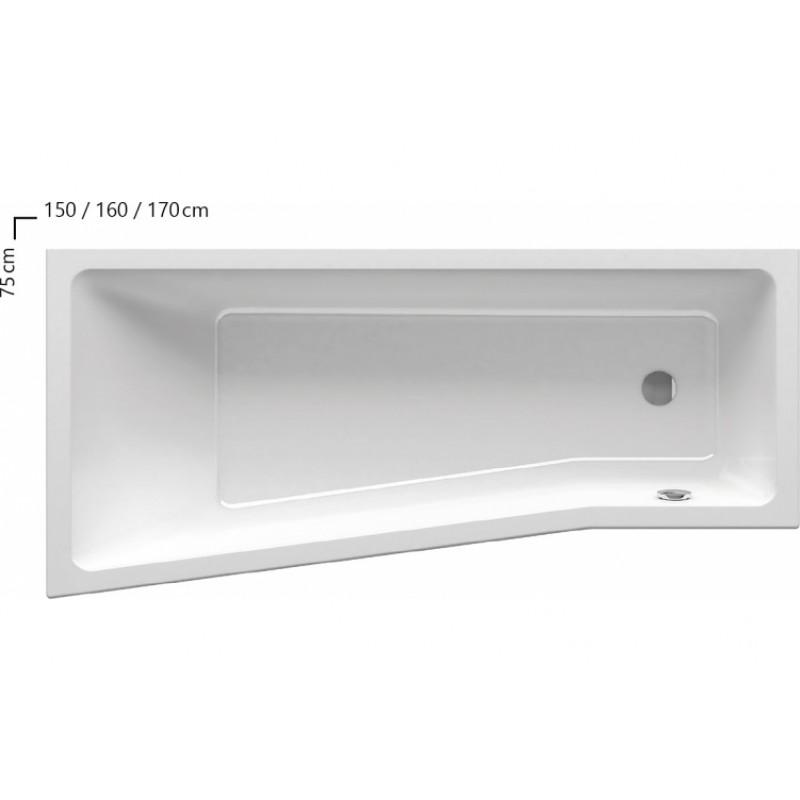 Ванна акриловая Ravak BE HAPPY II L, C981000000