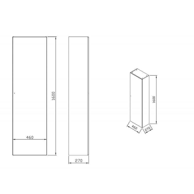 Боковой шкафчик Ravak SB Formy 460, X000001260